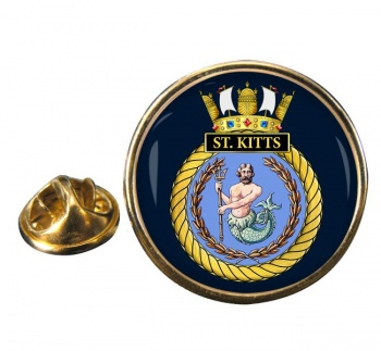 HMS St. Kitts (Royal Navy) Round Pin Badge