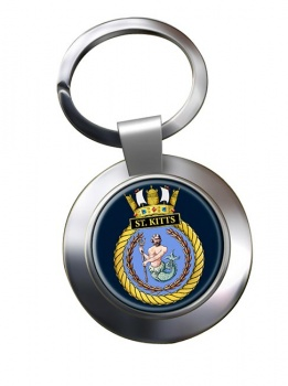 HMS St. Kitts (Royal Navy) Chrome Key Ring