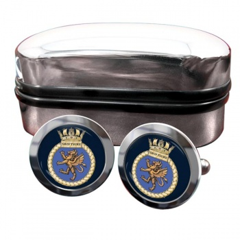 HMS Swiftsure (Royal Navy) Round Cufflinks