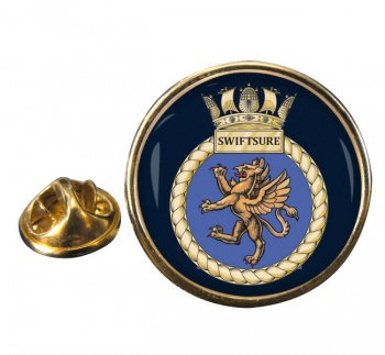 HMS Swiftsure (Royal Navy) Round Pin Badge