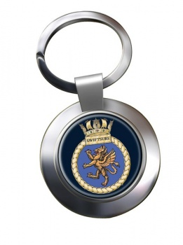 HMS Swiftsure (Royal Navy) Chrome Key Ring