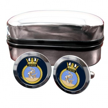 HMS Syrtis (Royal Navy) Round Cufflinks