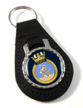 HMS Syrtis (Royal Navy) Leather Key Fob