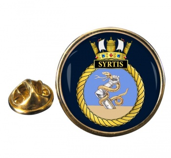 HMS Syrtis (Royal Navy) Round Pin Badge