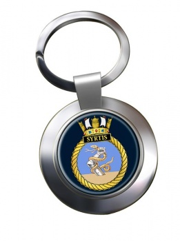 HMS Syrtis (Royal Navy) Chrome Key Ring