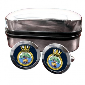 HMS Tantaside (Royal Navy) Round Cufflinks
