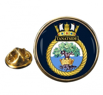 HMS Tantaside (Royal Navy) Round Pin Badge