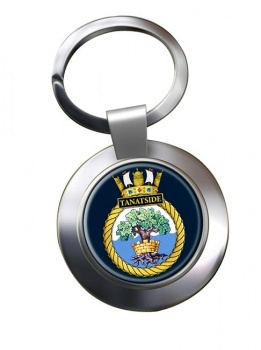 HMS Tantaside (Royal Navy) Chrome Key Ring