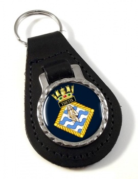 HMS Thetis (Royal Navy) Leather Key Fob