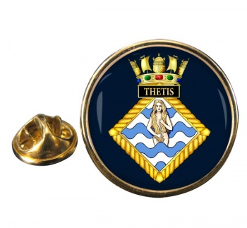 HMS Thetis (Royal Navy) Round Pin Badge