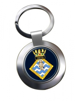 HMS Thetis (Royal Navy) Chrome Key Ring