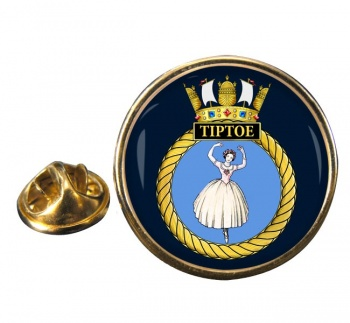 HMS Tiptoe (Royal Navy) Round Pin Badge