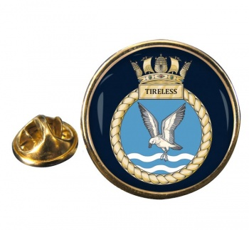 HMS Tireless (Royal Navy) Round Pin Badge