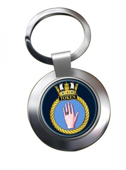 HMS Token (Royal Navy) Chrome Key Ring