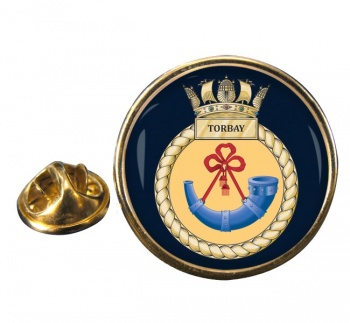 HMS Torbay (Royal Navy) Round Pin Badge