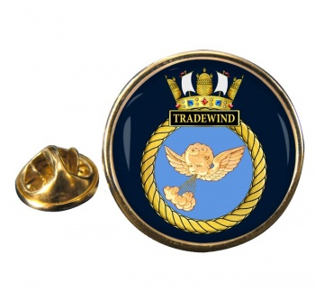 HMS Tradewind (Royal Navy) Round Pin Badge