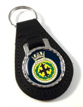 HMS Trafalgar (Royal Navy) Leather Key Fob