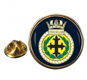 HMS Trafalgar (Royal Navy) Round Pin Badge