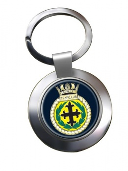 HMS Trafalgar (Royal Navy) Chrome Key Ring