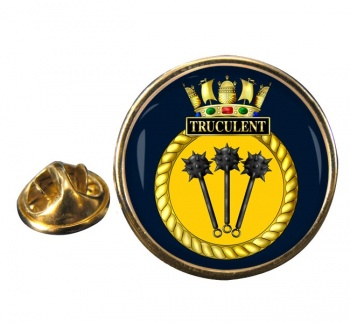 HMS Truculent (Royal Navy) Round Pin Badge
