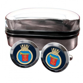 HMS Trumpeter (Royal Navy) Round Cufflinks