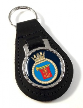 HMS Trumpeter (Royal Navy) Leather Key Fob