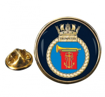 HMS Trumpeter (Royal Navy) Round Pin Badge