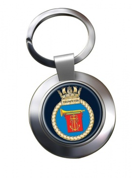 HMS Trumpeter (Royal Navy) Chrome Key Ring