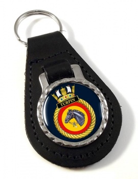 HMS Turpin (Royal Navy) Leather Key Fob