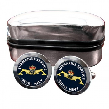 Royal Navy Submarine Service Round Cufflinks