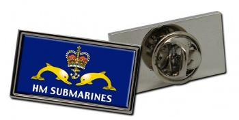 Royal Navy Submarine Service Rectangle Pin Badge