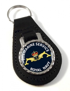 Royal Navy Submarine Service Leather Key Fob