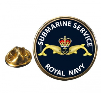 Royal Navy Submarine Service Round Pin Badge
