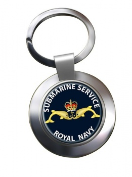 Royal Navy Submarine Service Chrome Key Ring