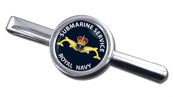 Royal Navy Submarine Service Round Tie Clip