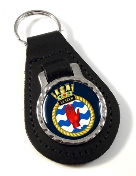 HMS Ulster (Royal Navy) Leather Key Fob