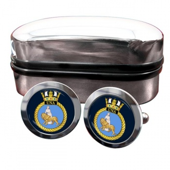 HMS Una (Royal Navy) Round Cufflinks