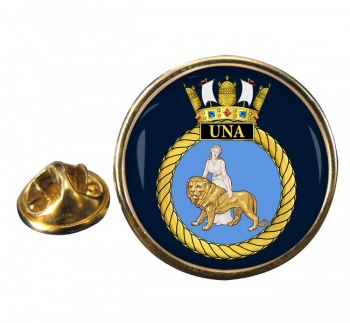 HMS Una (Royal Navy) Round Pin Badge