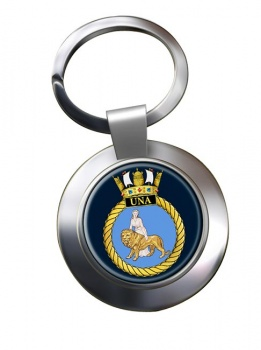 HMS Una (Royal Navy) Chrome Key Ring