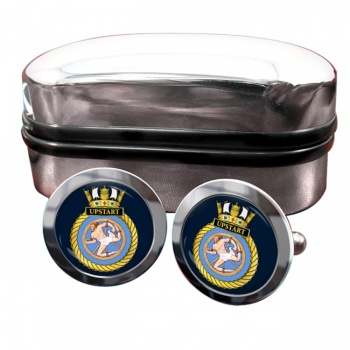 HMS Upstart (Royal Navy) Round Cufflinks