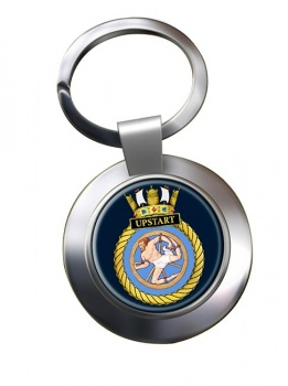 HMS Upstart (Royal Navy) Chrome Key Ring