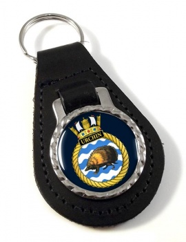 HMS Urchin (Royal Navy) Leather Key Fob