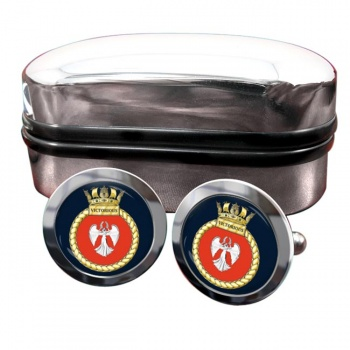 HMS Victorious (Royal Navy) Round Cufflinks