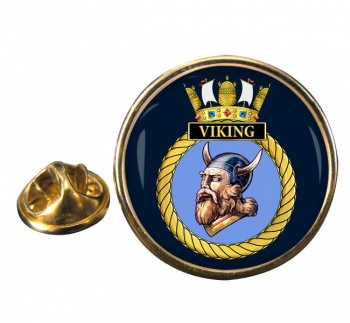 HMS Viking (Royal Navy) Round Pin Badge