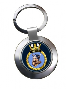 HMS Viking (Royal Navy) Chrome Key Ring