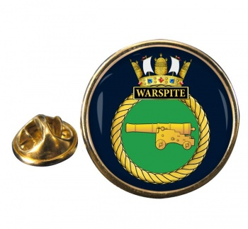 HMS Warspite (Royal Navy) Round Pin Badge