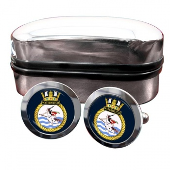 HMS Waterwitch (Royal Navy) Round Cufflinks