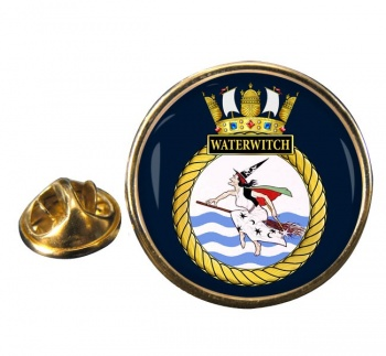 HMS Waterwitch (Royal Navy) Round Pin Badge