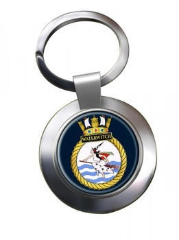 HMS Waterwitch (Royal Navy) Chrome Key Ring