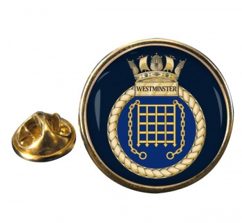 HMS Westminster (Royal Navy) Round Pin Badge